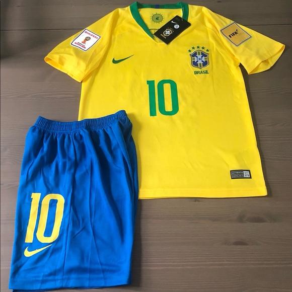 1d3af0b6b Brasil Brazil Kids kit Neymar Jr 10 Soccer Nike